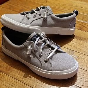 SPERRY Gray Sparkle Top-Sider, NWT, Size 6